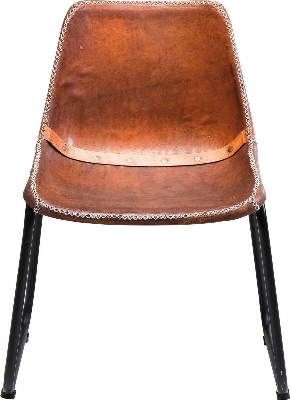 Stuhl vintage brown leather kare design kaufen for Kare design stuhl louis